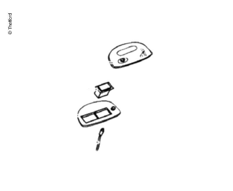 Kit bouton chasse d'eau SC200S blanc