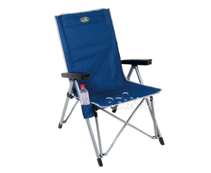 Campingfaltstuhl, Camp4, verstellbare Rückenlehne, LA PALMA blau