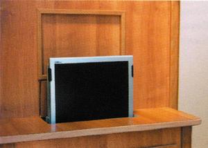Tft Halter Elektrisch Vertikal Ausfahrbar Tv Halterung 12 Volt