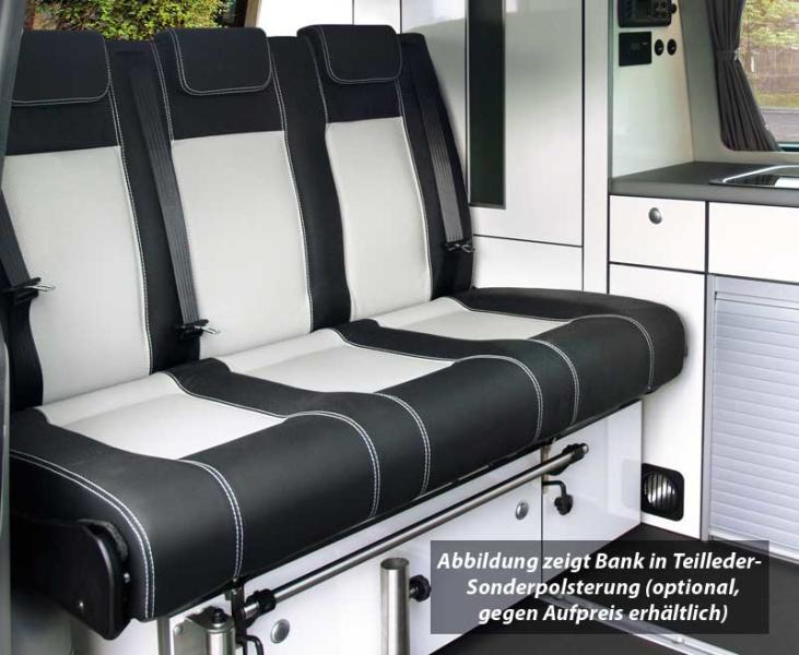 Schlafsitzbank VW T6/5 Trio Style V3000 Gr.10 3-sitzig Polster Classic Grau