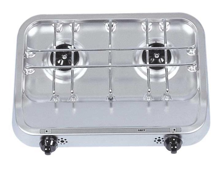 Bovenste kooktoestel 38x28 2-pits kooktoestel met piëzo