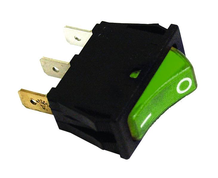 Wippschalter bel230V grün