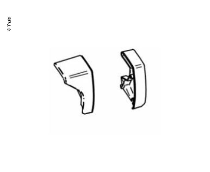 Eindkap frontprofiel f.Omnistor 6200 wit rechts en links