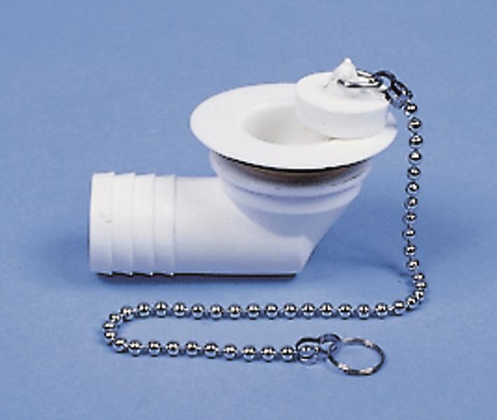 """Wasserablaufgarnitur gewinkelt - Schlauch 1"""", Ablauföffnung 31 mm"""