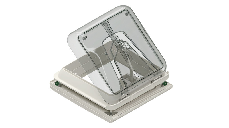Fiamma Skylight with crank handle, Vent, 28x28 cm, Colour: crystal
