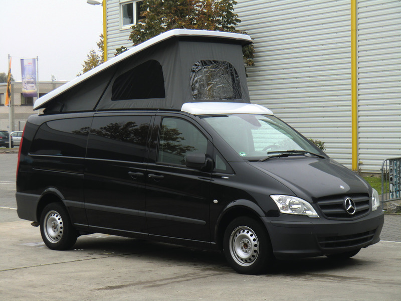 Mercedes Vito, Viano elevating roof superflat extra long, from 08/14, front up