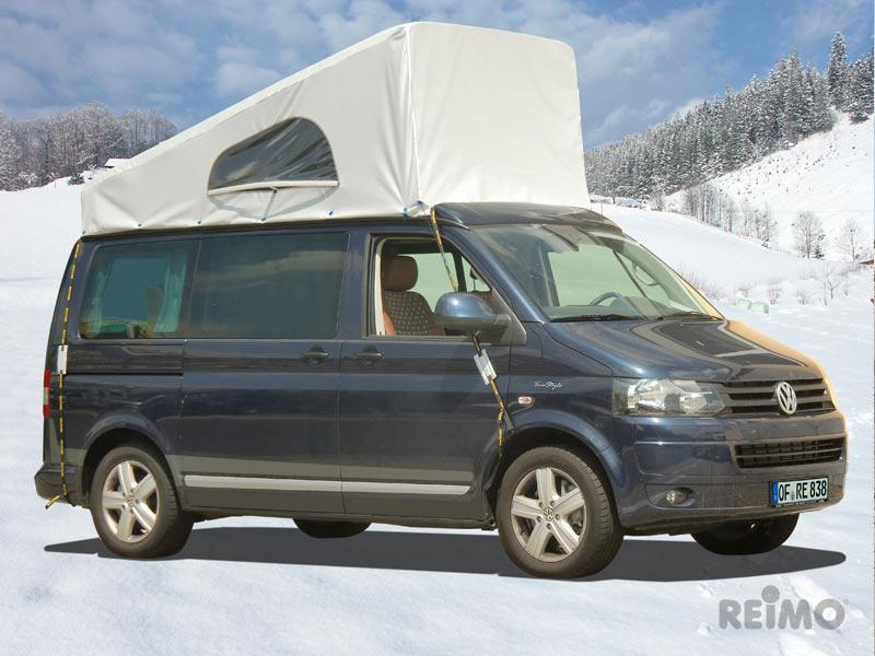 VW T6, VW T5 weather protection cover for pop top roof superflat, SWB, front up