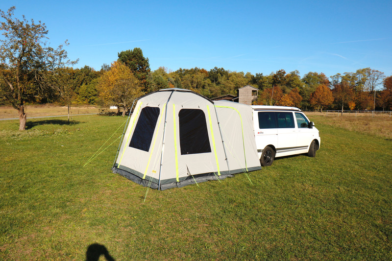UNI VAN - Universal Heckzelt mit großer Schleuse für Minicamper und Vans