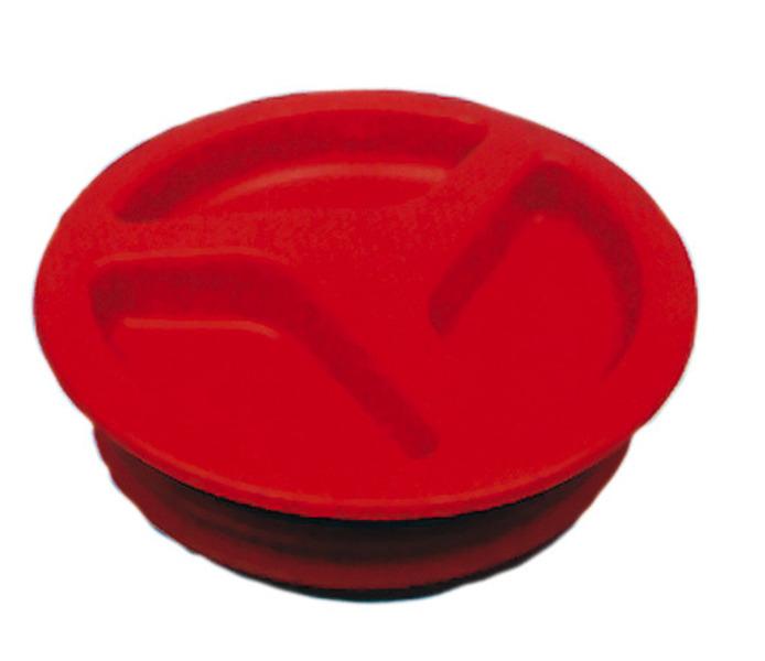 Beömlőfedél piros Ø150mm