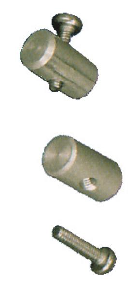 Pièce de verrouillage pour rail tubulaire pour caravane, F35