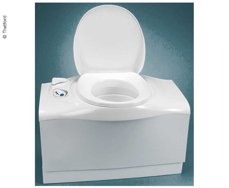 Cassette toilet C402-X electric, white, right