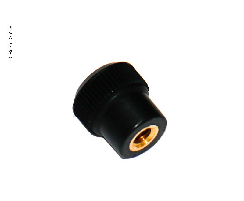 Rändelknopf M5 schwarz für Lüftungsgitter 31