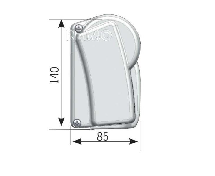 Awning Prostor 500, 4,5m, case white, cloth Horizon Grey ...