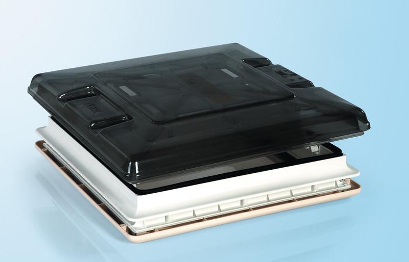 Hotte de toit 50x50 Vent cristal avec store enrouleur