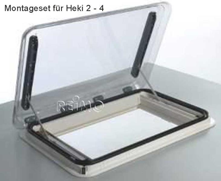 Monteringssæt Heki 2-4 til tagtykkelse 39-46 mm, gul