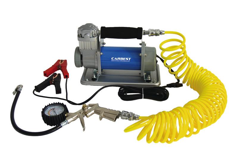 Lucht-compressor 12V/30A/360W, druk: 10 bar