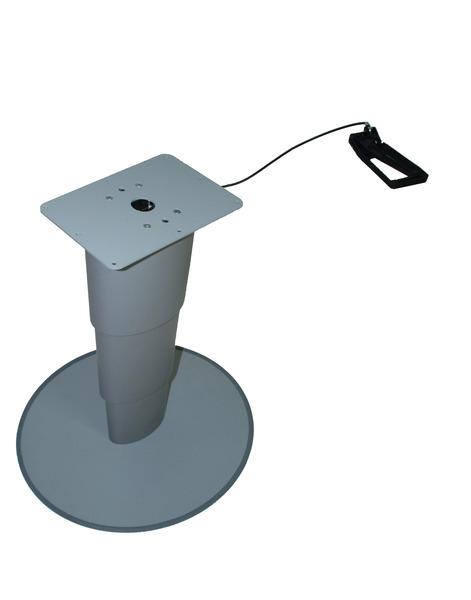 315-675mm Tisch Tischfuß Einsäulen-Hubtisch Primero Comfort silbergrau