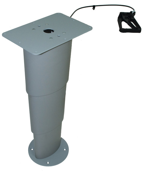 Single column lift table Primero Comfort, 310-670mm, silver grey