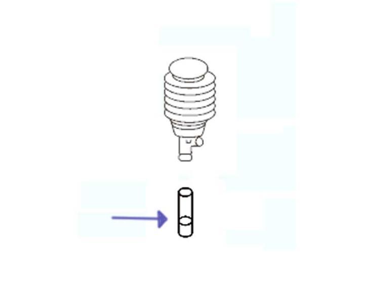 Bouton d'aération série PP100er, blanc