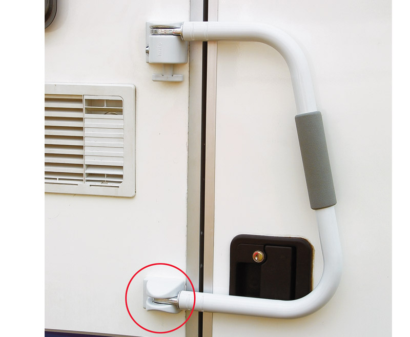 Mounting bracket - lower cover Security in grey