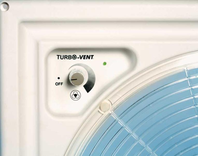 Kurbeldachhaube mit 12 Volt Ventilator + Thermostat 40x40cm