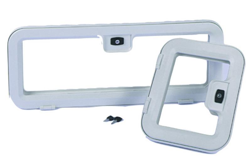 Kofferklappe 365x296 Kunststoff weiß, paßt für Porta Potti Cassette