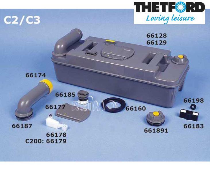 Schraubkappe Abwassertank gelb C2, C3, C4