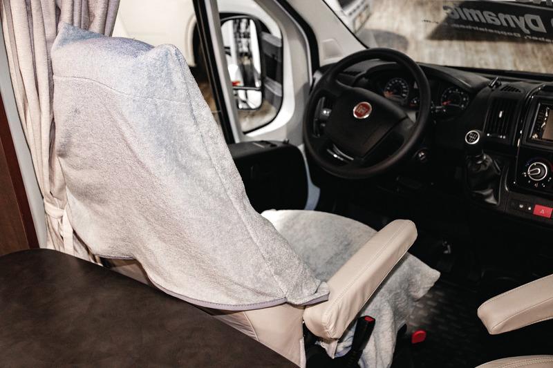 Universal Schonbezug Frottee grau für Wohnmobil