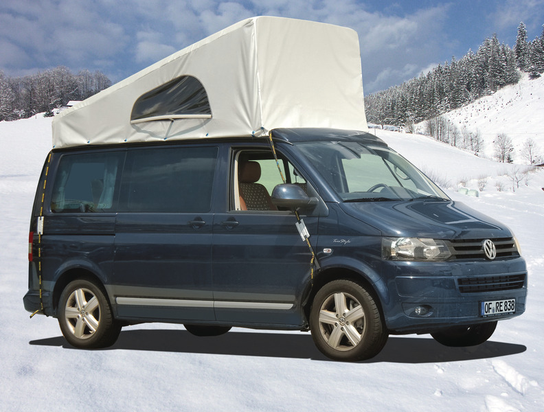VW T6, VW T5 weather protection for pop top roof Easy-Fit & California, front up