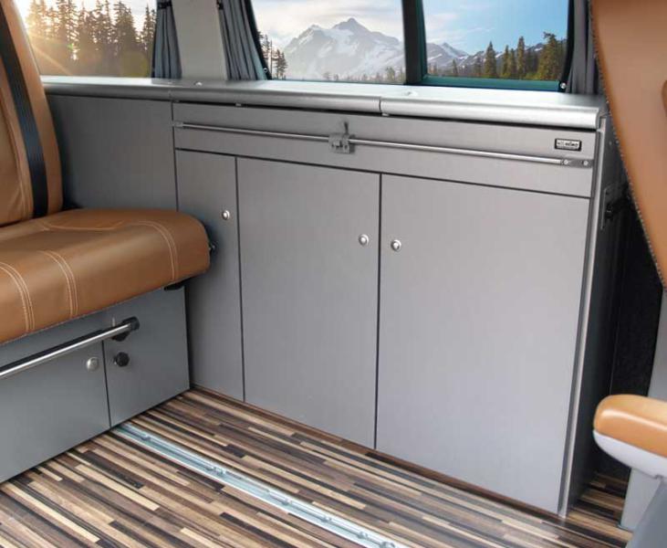 Möbelzeile CityVan, Anthrazit für VW T6/5 kurzen Radstand