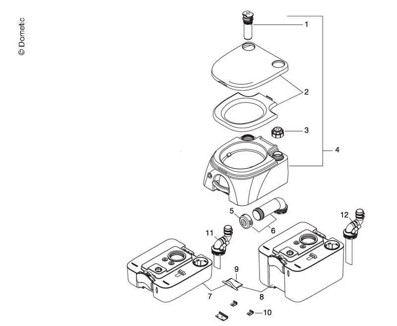 Spildevandstank til Dometic camping toilet 972/974