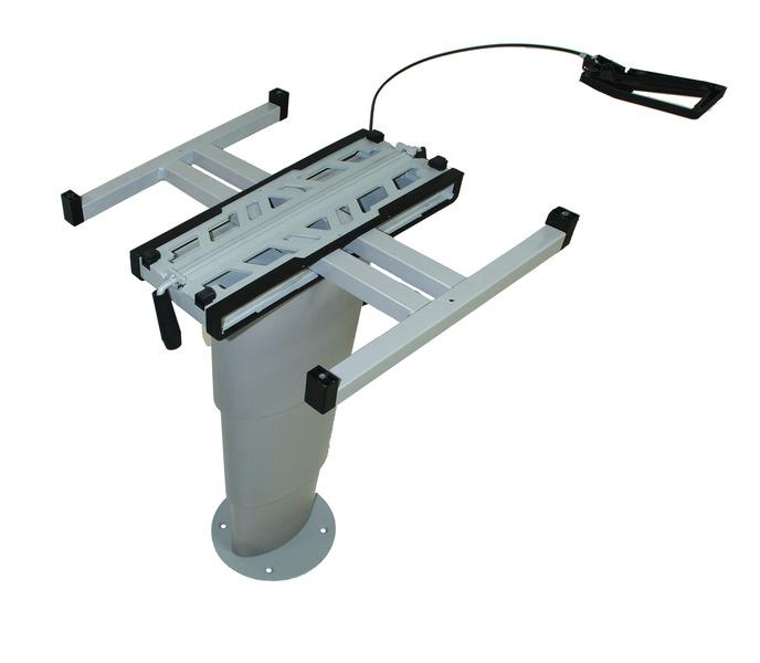 Einsäulen-Hubtisch Primero Comfort, 350-710mm, silbergrau
