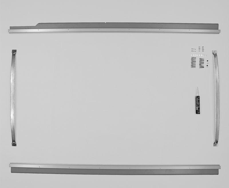 Einbaurahmen VWT4 kR m. Fhs-Ausschnitt LINKSLENKER