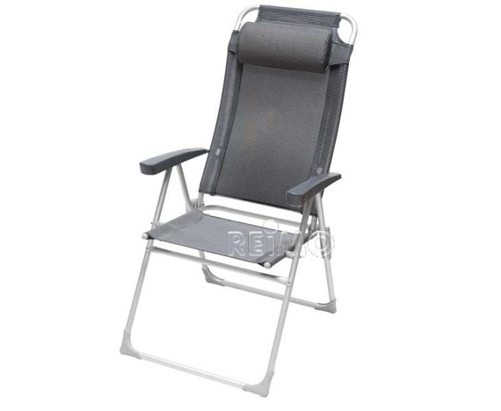 Chaise pliante  Malaga Compact II , noir/gris