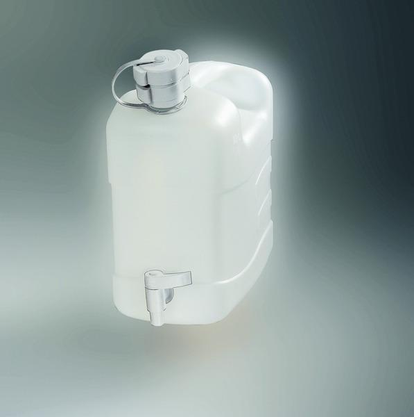 Combi-Frischw.Kanister mit Außgießer u.Ablaßhahn 10l