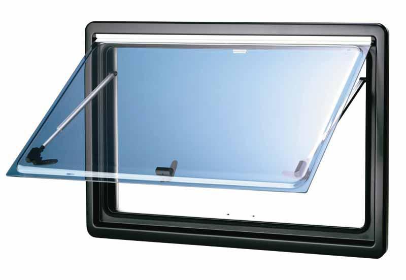 Vitre de rechange en verre gris, taille de la vitre 668 x 534 mm
