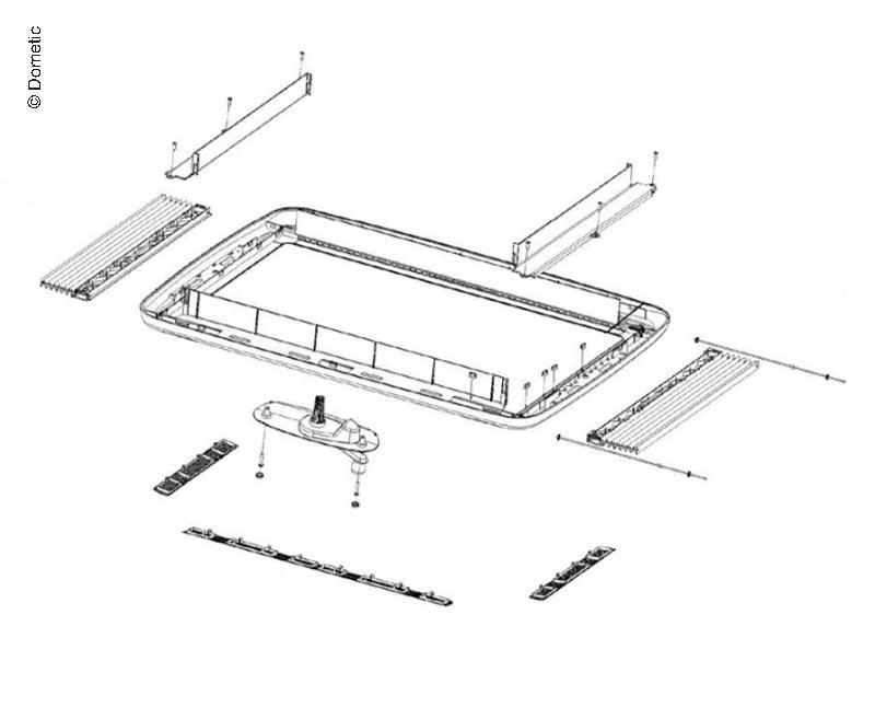 Innenrahmen kpl.Midi-Heki