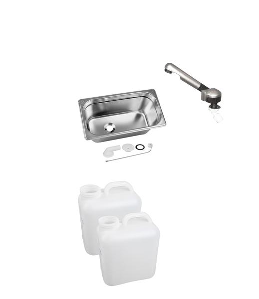 Wasseranlage für VW T6/T5/T4 und Mercedes Vito lang CityVan - eingebaut