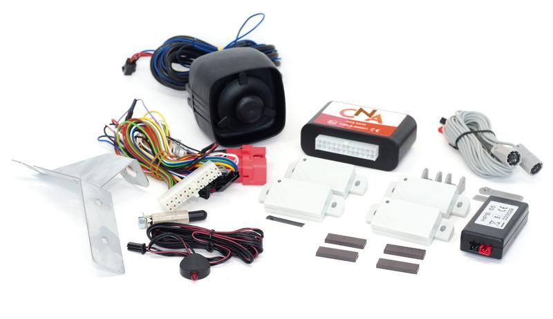 Système d'alarme Ducato Euro5, câble Canbus, central + 2 émetteurs ISM
