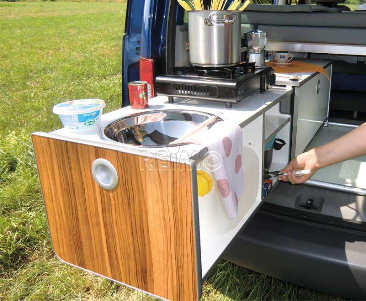 VW Caddy KR+LR Küchenbox Active Fertigteil