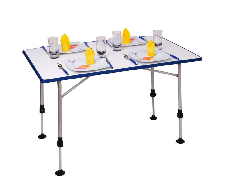Folding Camping Table, UWE, 115x69x55-76cm, alu frame