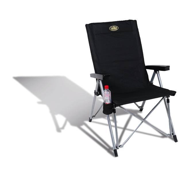 Chaise de camping La Palma noire
