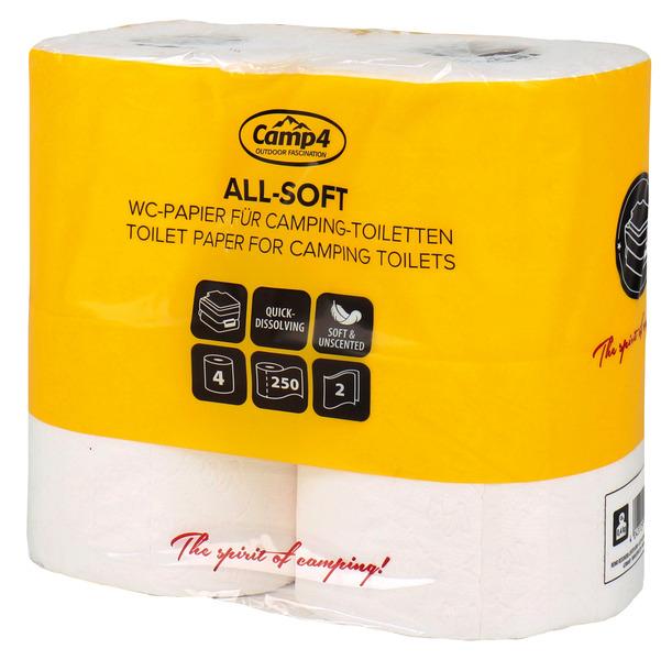 Toilettenpapier CAMP4, 2-lagig, 4 Rollen