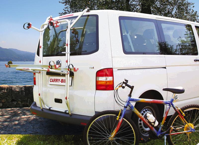 2 Fahrräder Heckklappe Carry Bike VW T4 Reimo