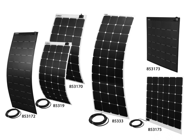 Moduli solari 12V ultra flessibili, potenti da 80 a 160 Watt