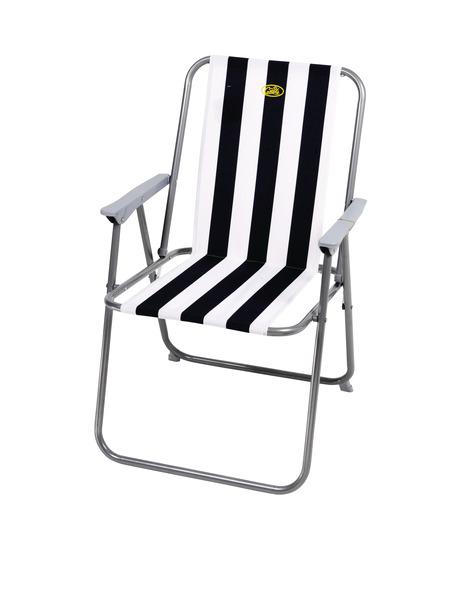 Campingstuhl Sun Relax, weiß-blau, belastbar bis 80 kg