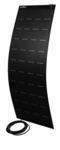 Pannello solare flessibile 160W, 1505x540x3mm, cavo 8m, ETFE+fibra di vetro, nero