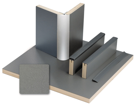 Furniture boards anthracite metallic laminate, HPL