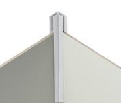 Eckverbindungsprofil 90° hellgrau für 3mm Verkleidungsplatten -innen-