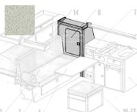 VW T3 seitlicher Kleiderschrank Granitto Schichtstoff als Bausatz